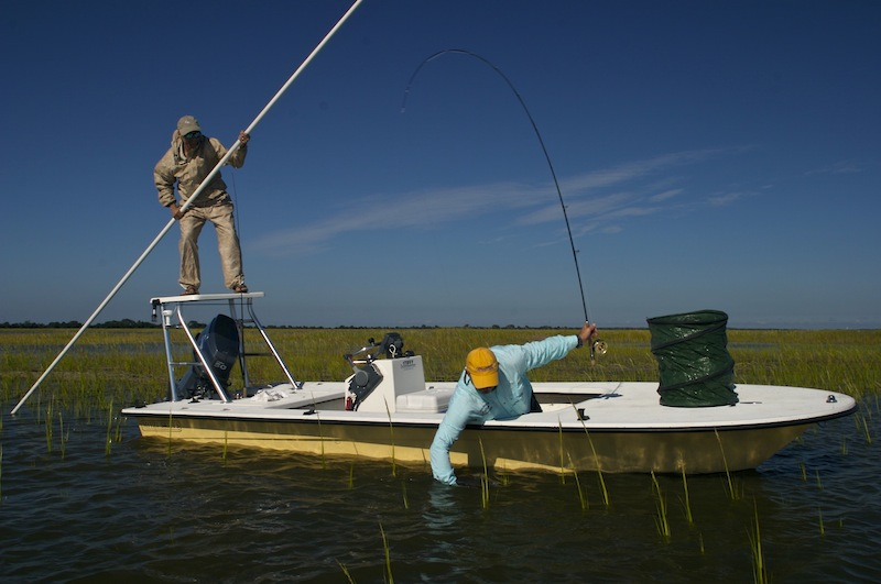 boating a redfish