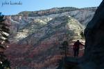 hiking, zion np